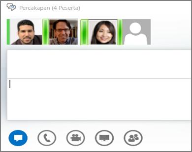 Cuplikan layar grup IM