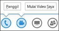 Tombol cuplikan layar audio dan kamera