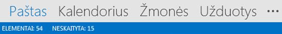 Outlook Navigation Bar