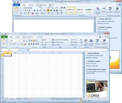 Word Starter un Excel Starter