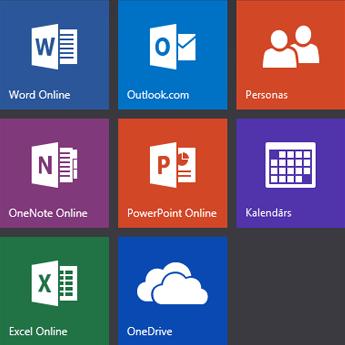Office.com sākuma ekrāns