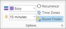Butang Pencari Bilik dalam Outlook 2013
