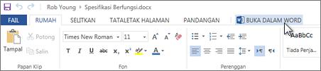 Membuka aplikasi Office yang lengkap dan bukannya menjalankan Office Online