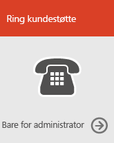 Ring kundestøtte (bare for administratorer)