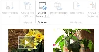 Video fra nettet i Word-dokument