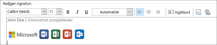 Rediger signatur i Outlook