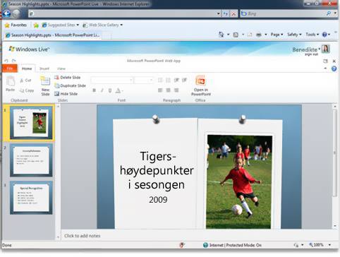 PowerPoint i en nettleser