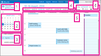 Weekweergave agenda