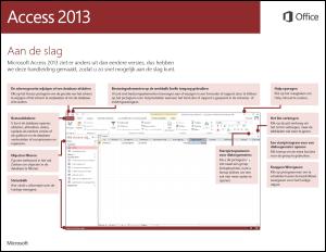 Aan de slag met Access 2013