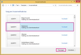 Nieuwe invoermethode in Office 2016 Windows 8