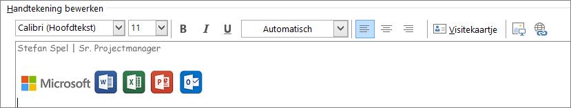 Outlook-handtekening bewerken