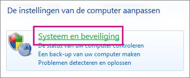 Het Configuratiescherm van Windows 7