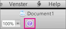 Klik op het vraagteken om Mac Office te openen