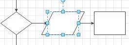 Een shape op een verbindingslijn plaatsen, waarna de verbindingslijn automatisch wordt gesplitst