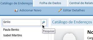 a caixa de pesquisa de texto em um banco de dados da web