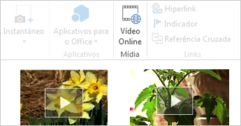Vídeo online no documento do Word