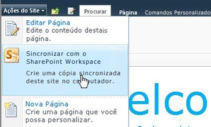 Selecione esta opção para sincronizar um site do SharePoint com o computador