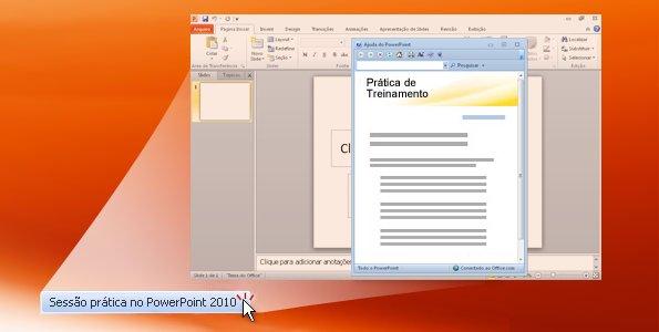 Sessão prática no PowerPoint 2010