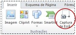 Botão Captura de Ecrã