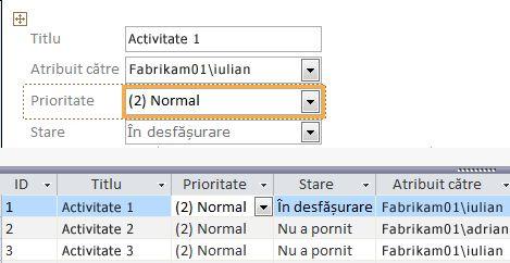 Crearea unei vizualizări cu Microsoft Access