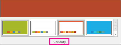 Varianty motívov v PowerPointe