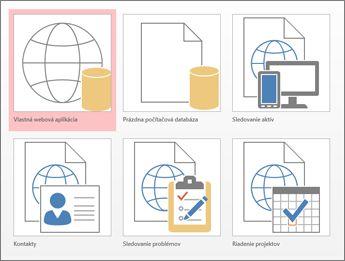Zobrazenie šablón na úvodnej obrazovke vAccesse
