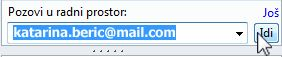 Pozivanje u radni prostor putem e-adrese