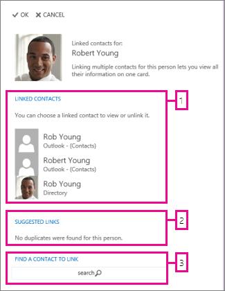 stranica sa povezanim kontaktima