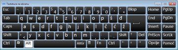 tastatura na ekranu sa ruskim ćiriličnim znakovima
