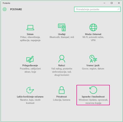 Podešavanje usluge Windows Updates u operativnom sistemu Windows 10