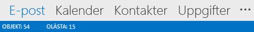 Navigeringsfältet i Outlook 2013