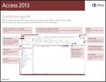 Snabbstartsguide för Access 2013