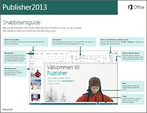 Snabbstartsguide för Publisher 2013