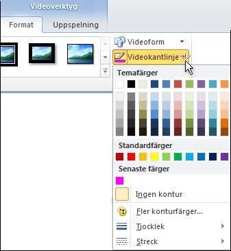 Byt färg på ett videoklipp