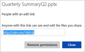 Kopiera den förkortade URL:en som du vill dela med andra