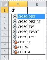 Funktioner i Excel 2010
