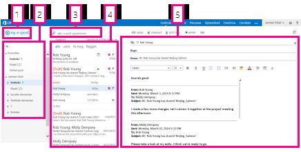 E-post i Outlook Web App