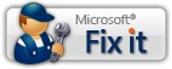ปุ่ม แก้ไขปัญหา ของ Microsoft