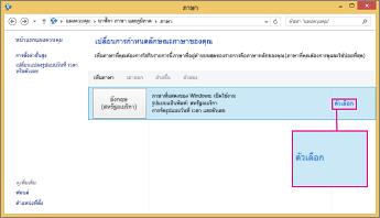 Office 2016, ตัวเลือกวิธีการป้อนข้อมูล ใน Windows 8