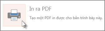 In các trang chiếu dưới định dạng PDF