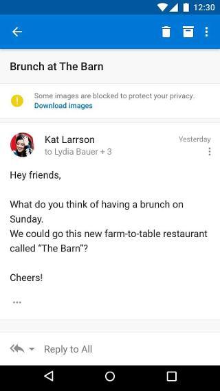"""تظهر رسالة """"تم حظر بعض الصور"""" في أعلى رسالة بريد إلكتروني"""