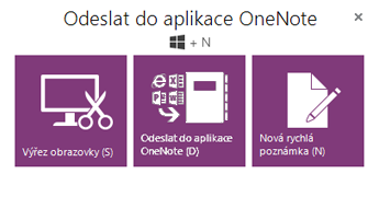 Nástroj Odeslat do OneNotu