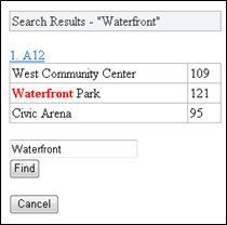 Výsledky hledání v prohlížeči Mobile Viewer pro Excel