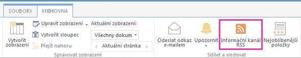 Informační kanál RSS knihovny