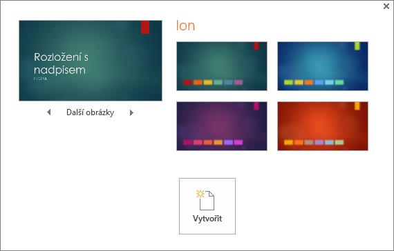 Zobrazí v PowerPointu možnosti variant barev motivu.