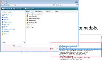 Otevření souboru aplikace PowerPoint 2010