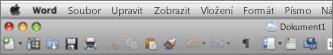 Hlavní uživatelské rozhraní pro Word for Mac 2011