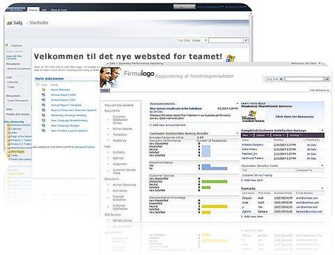 Websteder, du opretter med SharePoint Designer 2010