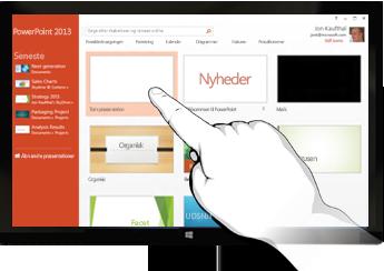 PowerPoint på enheder med touchskærm