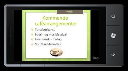 PowerPoint Mobile 2010 til Windows Phone 7: Redigere og få vist fra din telefon